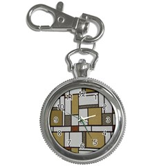 Fabric Textures Fabric Texture Vintage Blocks Rectangle Pattern Key Chain Watches