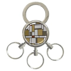 Fabric Textures Fabric Texture Vintage Blocks Rectangle Pattern 3-Ring Key Chains