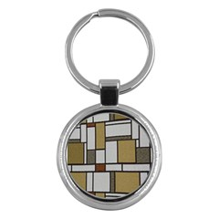 Fabric Textures Fabric Texture Vintage Blocks Rectangle Pattern Key Chains (round)