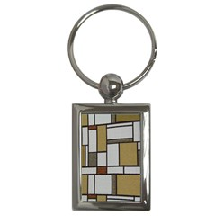 Fabric Textures Fabric Texture Vintage Blocks Rectangle Pattern Key Chains (rectangle)