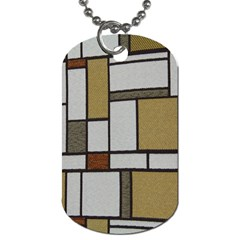 Fabric Textures Fabric Texture Vintage Blocks Rectangle Pattern Dog Tag (one Side)