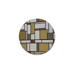 Fabric Textures Fabric Texture Vintage Blocks Rectangle Pattern Golf Ball Marker (4 pack)