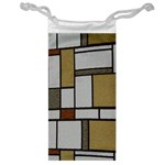 Fabric Textures Fabric Texture Vintage Blocks Rectangle Pattern Jewelry Bag Front