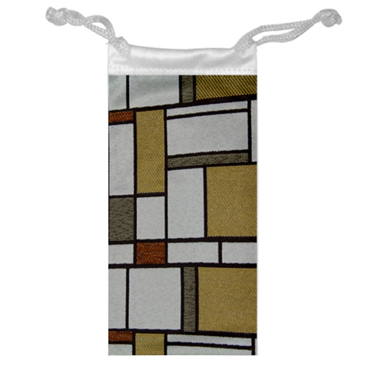 Fabric Textures Fabric Texture Vintage Blocks Rectangle Pattern Jewelry Bag
