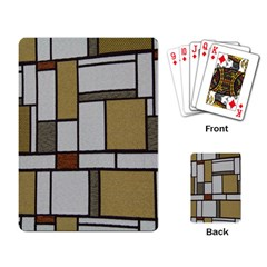 Fabric Textures Fabric Texture Vintage Blocks Rectangle Pattern Playing Card