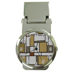 Fabric Textures Fabric Texture Vintage Blocks Rectangle Pattern Money Clip Watches
