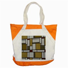 Fabric Textures Fabric Texture Vintage Blocks Rectangle Pattern Accent Tote Bag