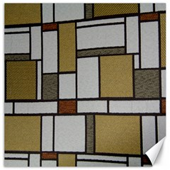 Fabric Textures Fabric Texture Vintage Blocks Rectangle Pattern Canvas 16  X 16