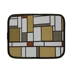 Fabric Textures Fabric Texture Vintage Blocks Rectangle Pattern Netbook Case (Small)