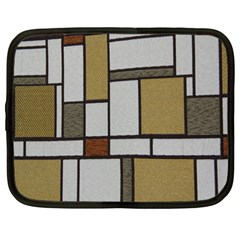 Fabric Textures Fabric Texture Vintage Blocks Rectangle Pattern Netbook Case (large)