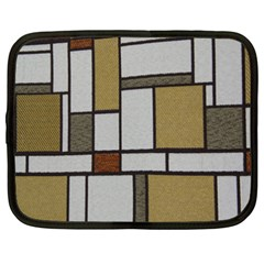 Fabric Textures Fabric Texture Vintage Blocks Rectangle Pattern Netbook Case (xxl)