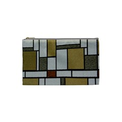 Fabric Textures Fabric Texture Vintage Blocks Rectangle Pattern Cosmetic Bag (Small)
