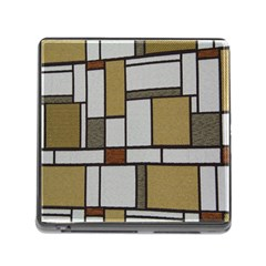 Fabric Textures Fabric Texture Vintage Blocks Rectangle Pattern Memory Card Reader (square)