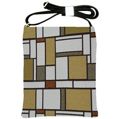 Fabric Textures Fabric Texture Vintage Blocks Rectangle Pattern Shoulder Sling Bags
