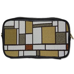 Fabric Textures Fabric Texture Vintage Blocks Rectangle Pattern Toiletries Bags 2 Side