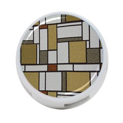 Fabric Textures Fabric Texture Vintage Blocks Rectangle Pattern 4 Port Usb Hub (two Sides)