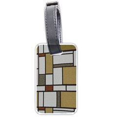 Fabric Textures Fabric Texture Vintage Blocks Rectangle Pattern Luggage Tags (One Side)