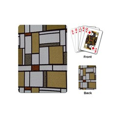 Fabric Textures Fabric Texture Vintage Blocks Rectangle Pattern Playing Cards (Mini)
