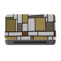 Fabric Textures Fabric Texture Vintage Blocks Rectangle Pattern Memory Card Reader With Cf