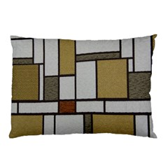 Fabric Textures Fabric Texture Vintage Blocks Rectangle Pattern Pillow Case (Two Sides)