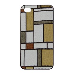Fabric Textures Fabric Texture Vintage Blocks Rectangle Pattern Apple iPhone 4/4s Seamless Case (Black)