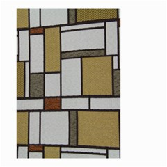 Fabric Textures Fabric Texture Vintage Blocks Rectangle Pattern Small Garden Flag (two Sides)
