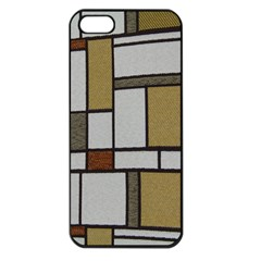 Fabric Textures Fabric Texture Vintage Blocks Rectangle Pattern Apple iPhone 5 Seamless Case (Black)