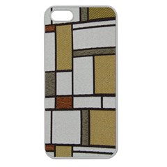 Fabric Textures Fabric Texture Vintage Blocks Rectangle Pattern Apple Seamless iPhone 5 Case (Clear)