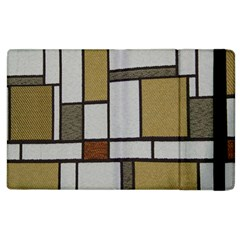 Fabric Textures Fabric Texture Vintage Blocks Rectangle Pattern Apple iPad 2 Flip Case