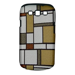 Fabric Textures Fabric Texture Vintage Blocks Rectangle Pattern Samsung Galaxy S III Classic Hardshell Case (PC+Silicone)