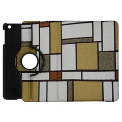 Fabric Textures Fabric Texture Vintage Blocks Rectangle Pattern Apple iPad Mini Flip 360 Case