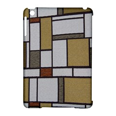 Fabric Textures Fabric Texture Vintage Blocks Rectangle Pattern Apple iPad Mini Hardshell Case (Compatible with Smart Cover)