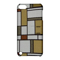 Fabric Textures Fabric Texture Vintage Blocks Rectangle Pattern Apple iPod Touch 5 Hardshell Case with Stand