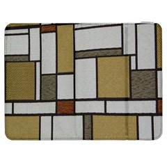 Fabric Textures Fabric Texture Vintage Blocks Rectangle Pattern Samsung Galaxy Tab 7  P1000 Flip Case