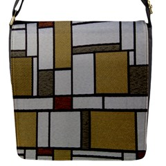 Fabric Textures Fabric Texture Vintage Blocks Rectangle Pattern Flap Messenger Bag (S)