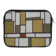 Fabric Textures Fabric Texture Vintage Blocks Rectangle Pattern Apple iPad 2/3/4 Zipper Cases