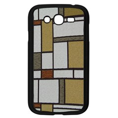 Fabric Textures Fabric Texture Vintage Blocks Rectangle Pattern Samsung Galaxy Grand DUOS I9082 Case (Black)
