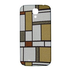 Fabric Textures Fabric Texture Vintage Blocks Rectangle Pattern Samsung Galaxy S4 I9500/I9505  Hardshell Back Case
