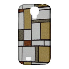 Fabric Textures Fabric Texture Vintage Blocks Rectangle Pattern Samsung Galaxy S4 Classic Hardshell Case (PC+Silicone)