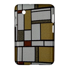 Fabric Textures Fabric Texture Vintage Blocks Rectangle Pattern Samsung Galaxy Tab 2 (7 ) P3100 Hardshell Case