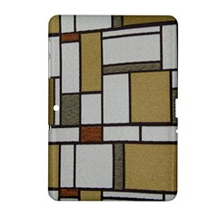 Fabric Textures Fabric Texture Vintage Blocks Rectangle Pattern Samsung Galaxy Tab 2 (10 1 ) P5100 Hardshell Case