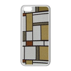 Fabric Textures Fabric Texture Vintage Blocks Rectangle Pattern Apple iPhone 5C Seamless Case (White)