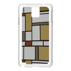 Fabric Textures Fabric Texture Vintage Blocks Rectangle Pattern Samsung Galaxy Note 3 N9005 Case (White)