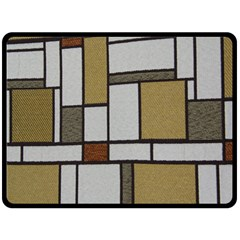 Fabric Textures Fabric Texture Vintage Blocks Rectangle Pattern Double Sided Fleece Blanket (Large)
