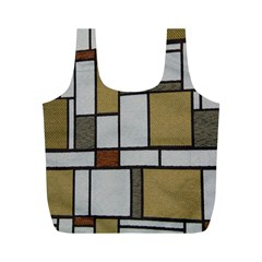 Fabric Textures Fabric Texture Vintage Blocks Rectangle Pattern Full Print Recycle Bags (m)