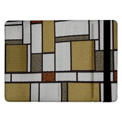 Fabric Textures Fabric Texture Vintage Blocks Rectangle Pattern Samsung Galaxy Tab Pro 12 2  Flip Case