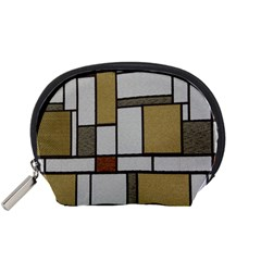 Fabric Textures Fabric Texture Vintage Blocks Rectangle Pattern Accessory Pouches (Small)