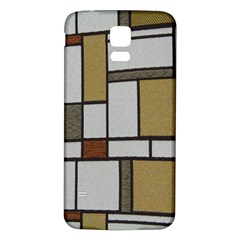 Fabric Textures Fabric Texture Vintage Blocks Rectangle Pattern Samsung Galaxy S5 Back Case (White)