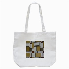 Fabric Textures Fabric Texture Vintage Blocks Rectangle Pattern Tote Bag (White)