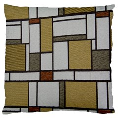 Fabric Textures Fabric Texture Vintage Blocks Rectangle Pattern Standard Flano Cushion Case (two Sides)